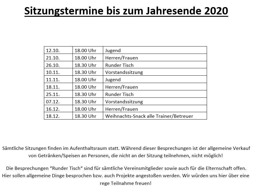 Sitzungen 2020